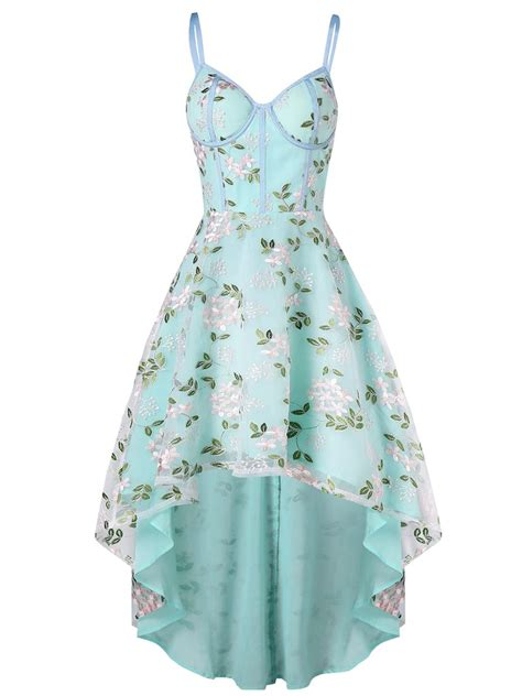 No 1 Embroidery Dress 1950s floral embroidery dress retro stage chic vintage