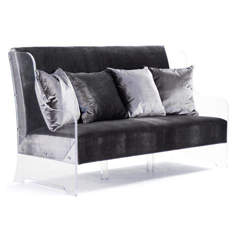 glam sofa wilshire hollywood regency glam acrylic arm velvet sofa