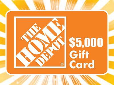 www homedepotopinion com enter home depot survey sweepstakes to win a 5 000 gift card
