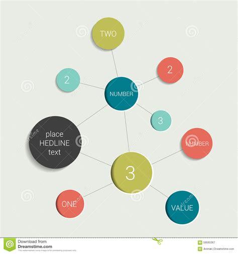 chart layout en español round flow chart infographics scheme cartoon vector