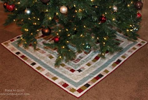 quilted diy christmas tree skirt allfreesewingcom