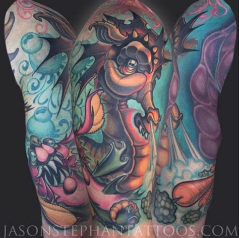 new school tattoo nyc seahorse tattoo tattoo insider