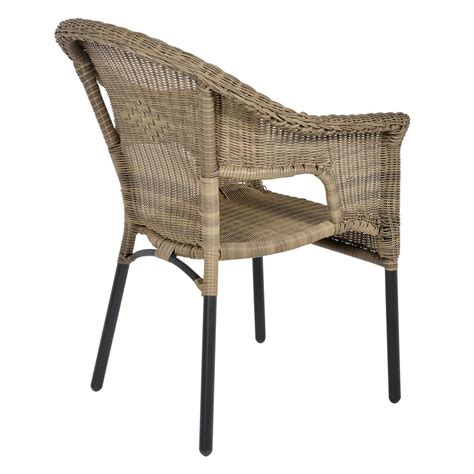 Round Rattan Garden Table And 6 Chairs