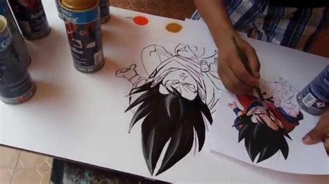 Goku Spray Paint