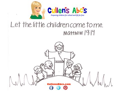 bible memory verse coloring page the the little children