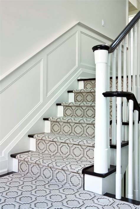 Ikea Runner Rugs by Geometric Stair Runner Transitional Entrance Foyer