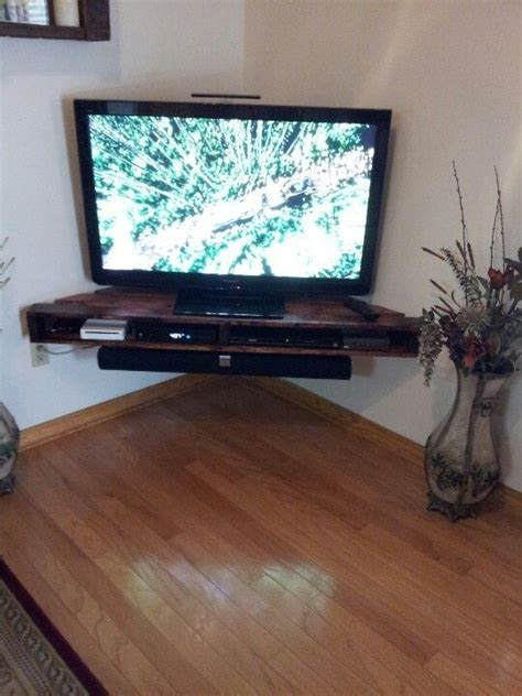 building a corner tv cabinet 435 best pallet tv stands racks images on pinterest
