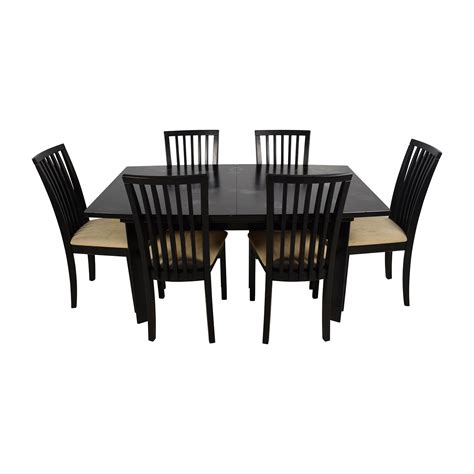 Dining Table Six Chairs 90 Skovby Skovby Sm 24 Dining Table With Butterfly Extensions And Six Chairs Tables