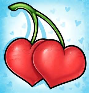 why do i doodle hearts learn how to draw cherry hearts food pop culture free