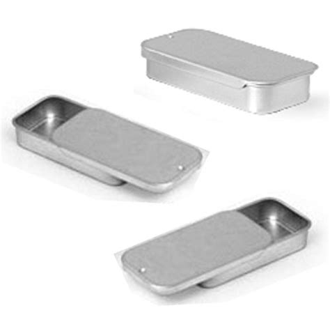 small metal storage containers metal slide top tin containers small for crafts geocache