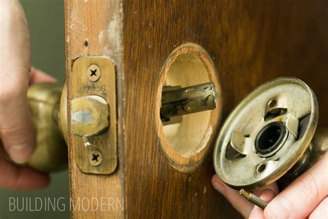 Removing An Door Knob by Painting Hollow Doors Spray Painting Hardware