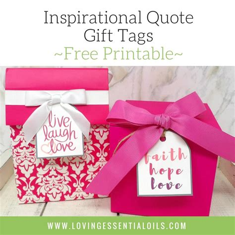printable quote tags free printable inspirational quote gift tags loving