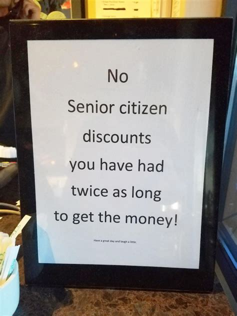 German Offer Senior Citizen Discounts by No Senior Citizen Discounts