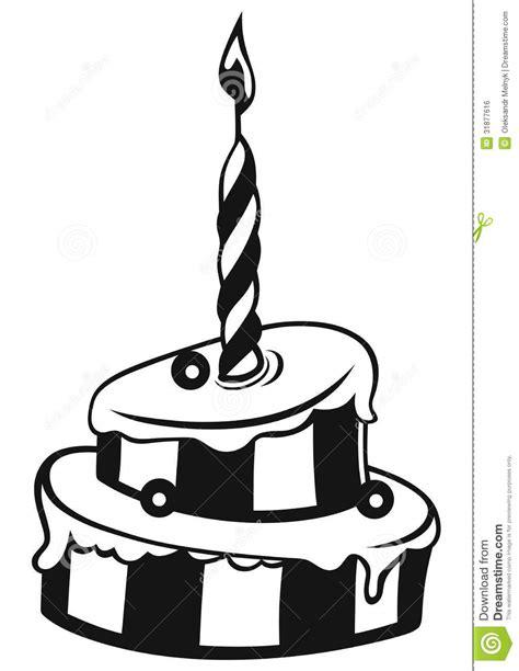imagenes para cumpleaños blanco y negro torta de cumplea 241 os ilustraci 243 n del vector imagen de