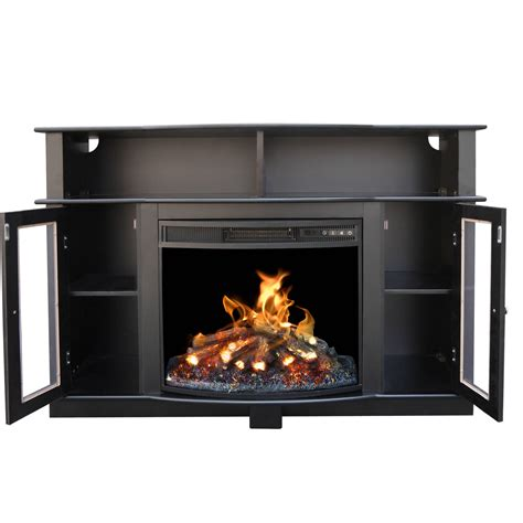 entertainment console with electric fireplace tv stand entertainment center media console shelves