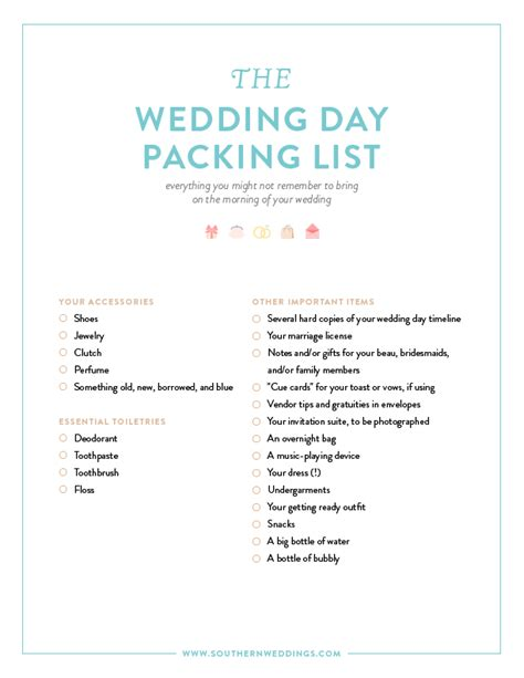 list of things you need for a wedding pin it