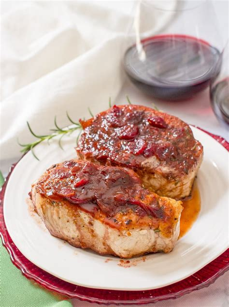 Fast Easy Dinner Chops With Tomatoes by Cranberry Balsamic Pork Chops Family Food On The Table