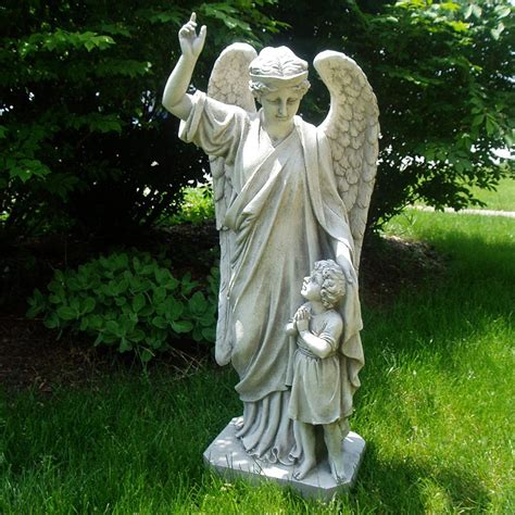 statue garten shop design toscano guardian child s prayer 34 in