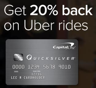 How Do You Use A Uber Gift Card - 2 free rides 20 off all uber rides with capital one quicksilver frequent miler