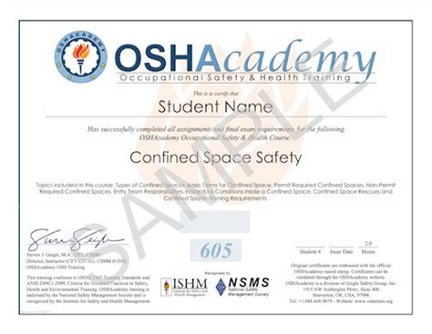 confined space card template best photos of osha certificate template osha