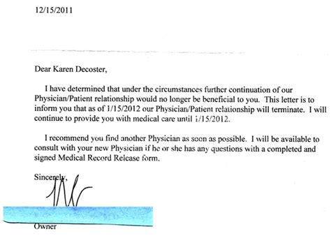 Patient Letter To Doctor A Visit With A Person Of High Strangeness Patient Denied Of Service For Not Accepting Advice