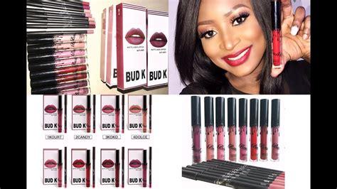 Matte Liquid Lipstick Lip Liner Like Ori 2 In 1 Isi 8 aliexpress bud k matte liquid lipstick lip kit lip liner pencil review swatches