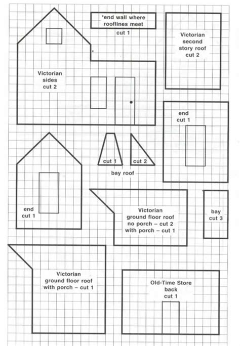 printable house design templates victorian house jul pinterest