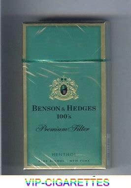 benson hedges menthol 100s cigarettes premium filter