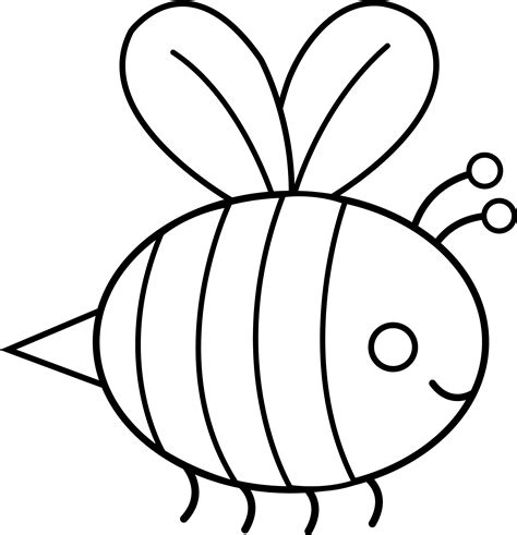 line drawing templates bee line cliparts co