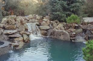 Spa Like Bathroom Ideas by Natural Rock Waterfall And Pool Rustic Pool San
