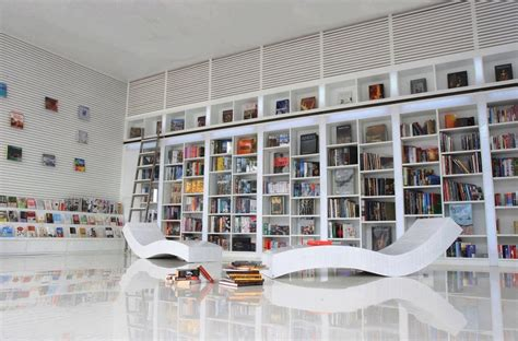 Large Wall Bookshelf Accentuating Height In Narrow Homes