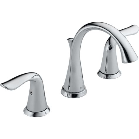 Delta Bathroom Fixtures Shop Delta Lahara Chrome 2 Handle Widespread Watersense Bathroom Faucet Drain Included At