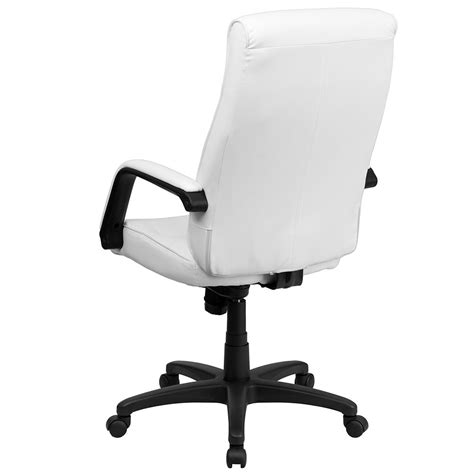 memory foam desk chair high back white leather executive swivel office chair with