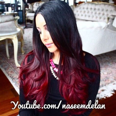 diy ombre hair for dark brunettes step by step diy red ombre hair tutorial hopefully if i dye over my