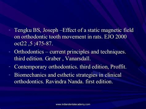 Cd E Book Orthodontics Principles And Practice Dental Update physiology of tooth movement 1 certified fixed orthodontic courses b