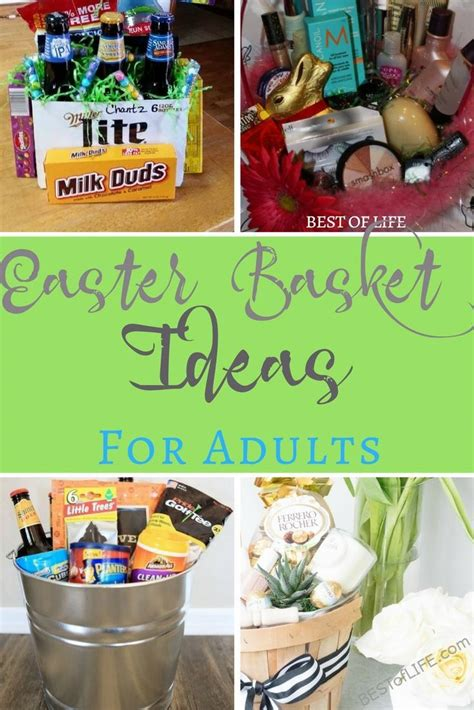 easter baskets for adults easter basket ideas for adults no candy couples and