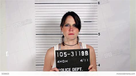Criminal Arrest Record Criminal Mugshot Stock Footage 3338423