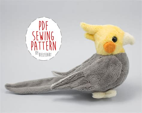 sewing pattern stuffed animal cockatiel stuffed animal sewing pattern digital download