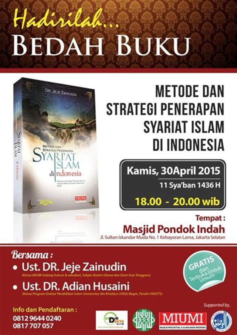 Buku Islam Paket 6 2 Buku hadirilah bedah buku metode dan strategi penerapan syariat islam di indonesia voa islam