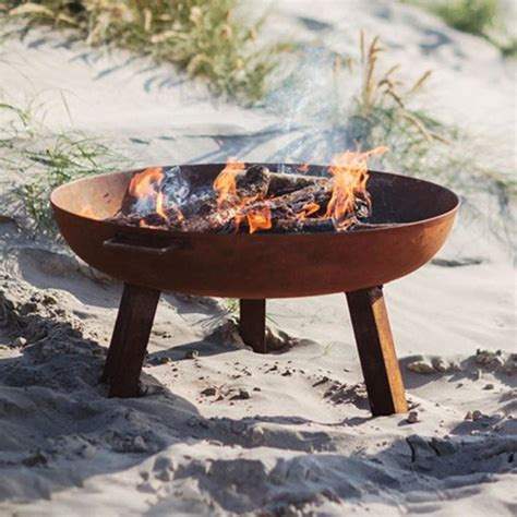 Large Outdoor Pit Rustic Cast Iron Braziers Garden Pits The
