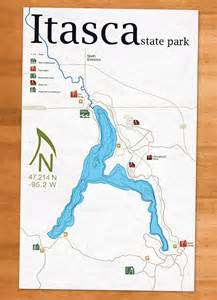 Minnesota State Park Map by Itasca State Park Map On Behance