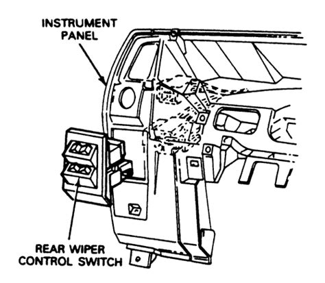 repair windshield wipe control 1987 mazda familia instrument cluster repair guides instruments and switches rear wiper