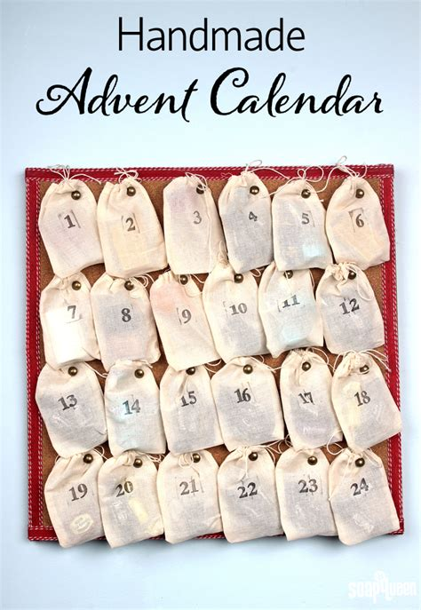 easy handmade advent calendar soap