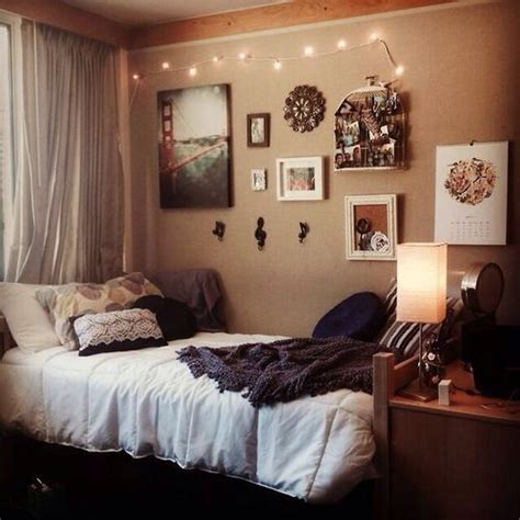 dorm room bed tumblr bedroom subtle setting college dorm university