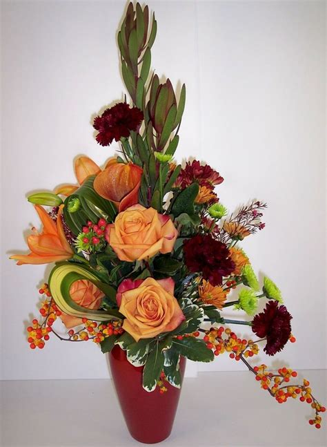 fall floral arrangements fall grandeur flower arrangement