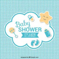 baby shower card vector free