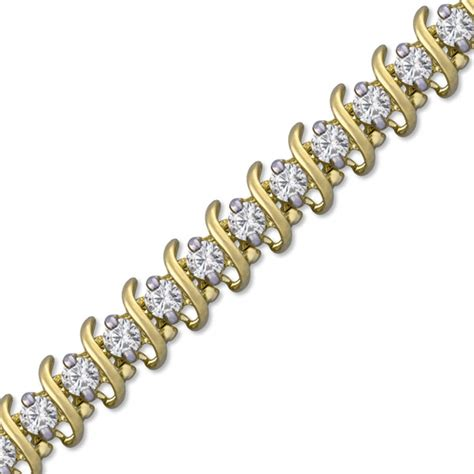 10 Carat Tennis Bracelet - 6 carat tennis bracelet in 10k gold