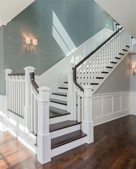 How To Stain Wood Banister 17 Best Ideas About Wainscoting Stairs On Pinterest