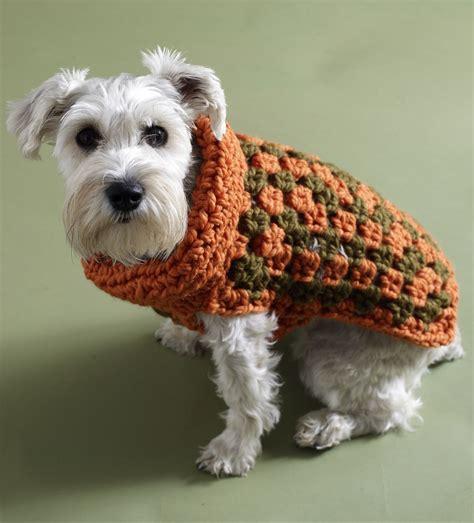 free pattern dog coat bernat pattern detail super value dog coat crochet