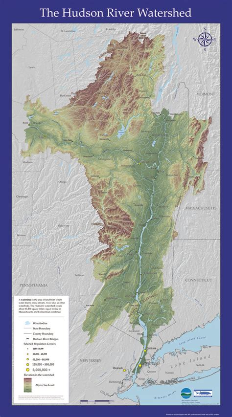 hudson river map hudson river watershed map nys dept of environmental conservation